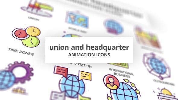 Union & Headquarter - Animation Icons