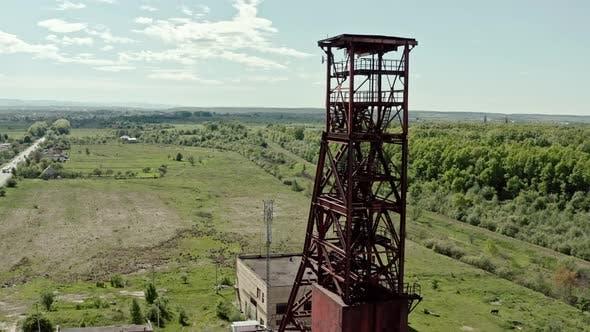 Thumbnail for Aerial Wiev: Old Abandoned Salt Mine Against the Background Forest. V2