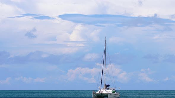 Cover Image for Luxury Catamaran Anchored