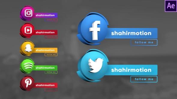 Social Media 3D Lowertercios