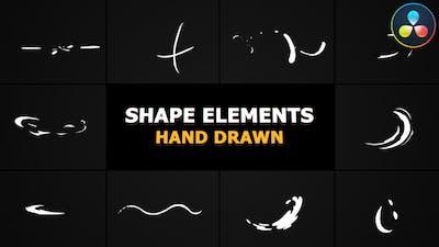 Cartoon Shape Elements | DaVinci Resolve