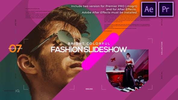 Helle bunte Mode-Diashow