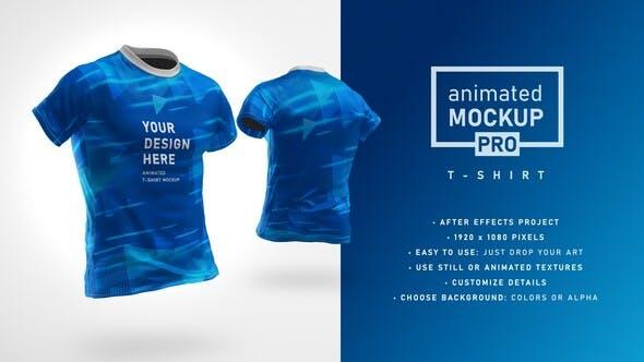 T-shirt Mockup Template - Animated Mockup PRO