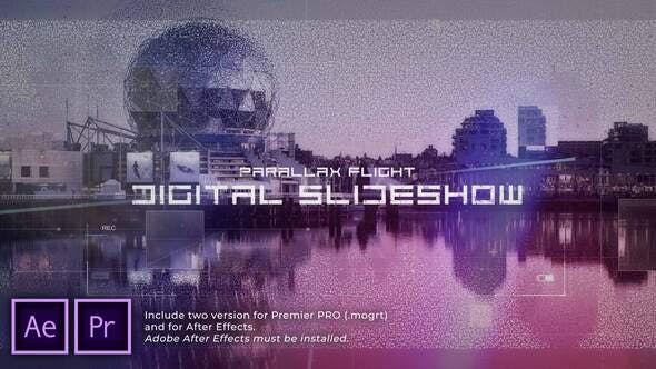 Digital Flight Parallax Slideshow