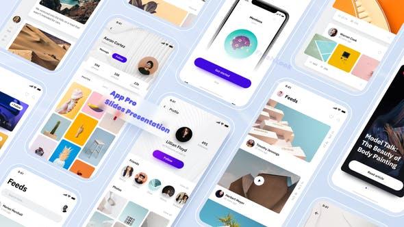 Aplicación Pro - Presentación de diapositivas de promoción de aplicaciones