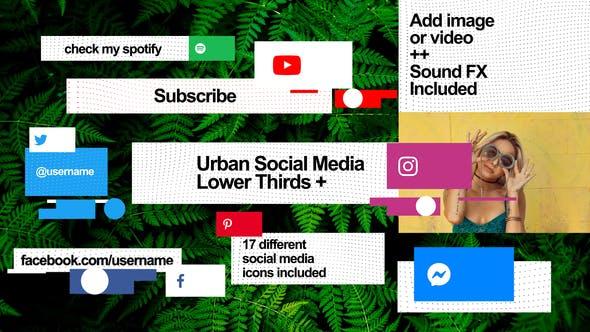 Urban Social Media Lower Thirds