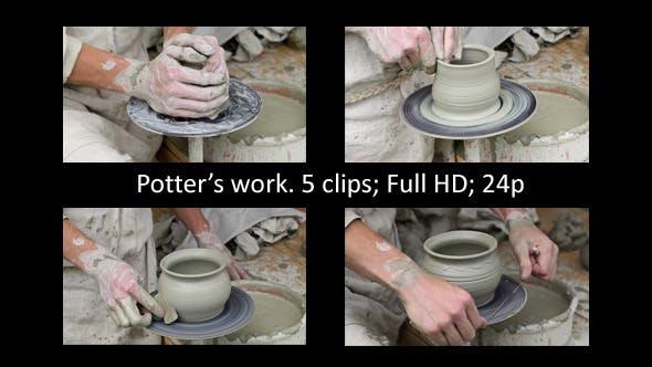 Thumbnail for Potter Makes A Clay Pot