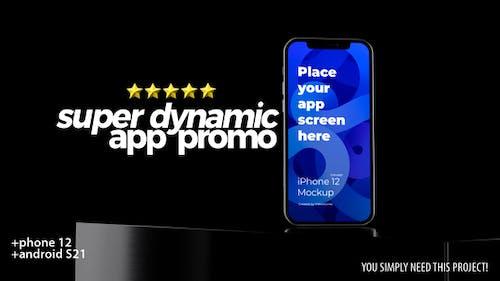 Super Dynamic App Promo - Phone 12 - Android - 3d Mobile Device Demo Video Mockup Kit