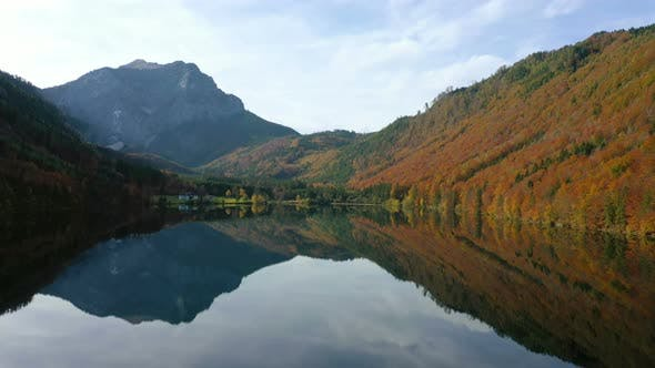Beautiful Austrian Autumn Lake