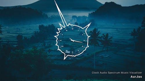 Clock Audio Spectrum Music Visualizer