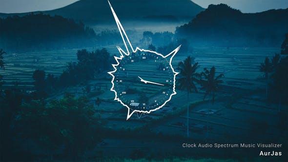 Visualizador de música del espectro de Audio del reloj
