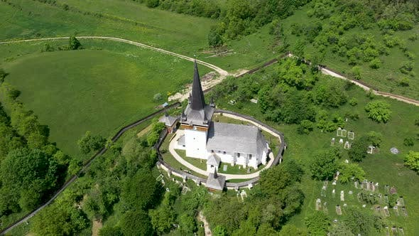 Thumbnail for Flying Above Valeni Hungarian Reformed Church, Transylvania, Romania