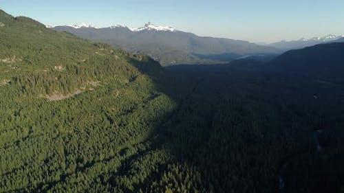 Amazing Aerial Reveal Of Snowy Black Tusk Mountain Peak In British Columbia