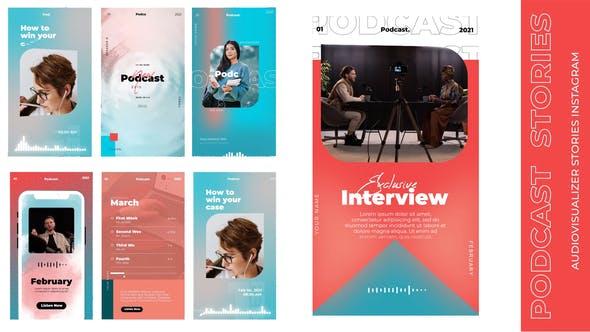 Podcast audiovisualizer insta stories