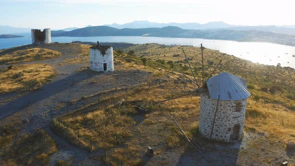 Thumbnail for Old Windmills on the Hill in Bodrum, Turkey