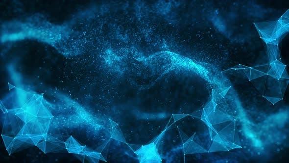 Digital Background Blue Loop