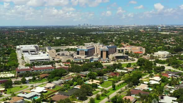 Aerial Footage Hollywood Memorial Regional Hospital