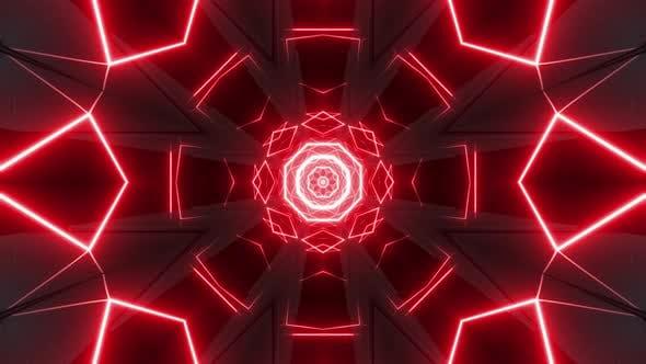 4k Red Neon Vj Loop Pack