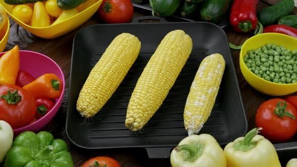 Colorful Set Organic Food