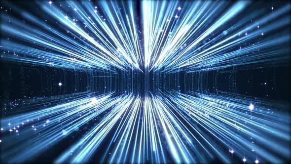 Thumbnail for Blue Digital Information Flow Background