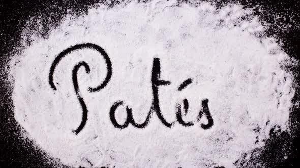 Thumbnail for Salt Writing on Black  Surface  Pates