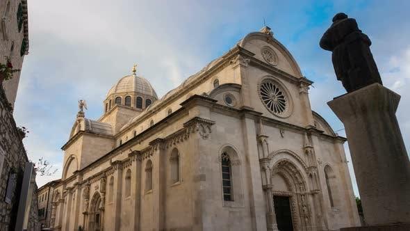 Time Lapse  St James Cathedral Sibenik Croatia