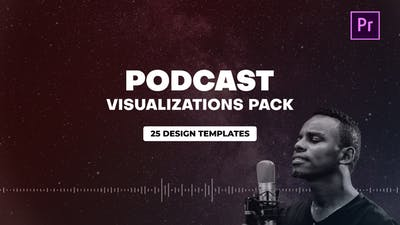 Podcast Audio Visualization Pack for Premiere Pro