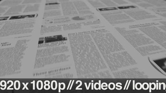 Thumbnail for Newspaper Printing Press - 2 Styles Looping