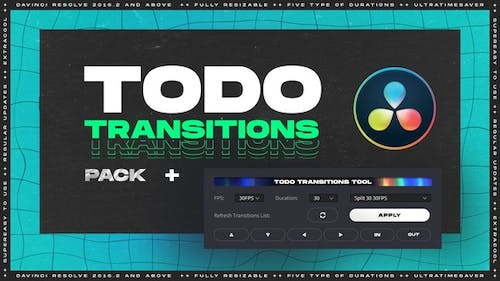 ToDo Transitions   Transitions Pack for DaVinci Resolve