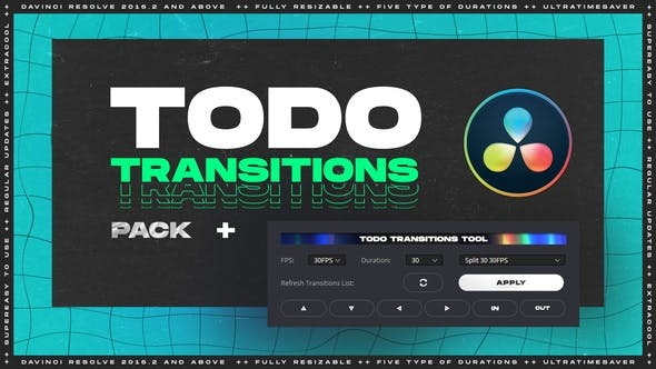 ToDo Transitions | Transitions Pack for DaVinci Resolve