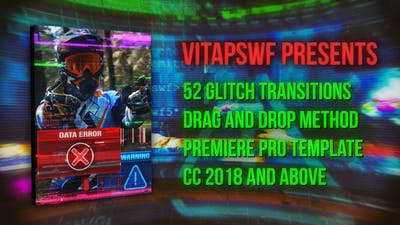 52 Drag and Drop Glitch Transitions
