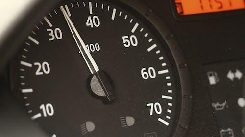 Starting Car Engine Dashboard