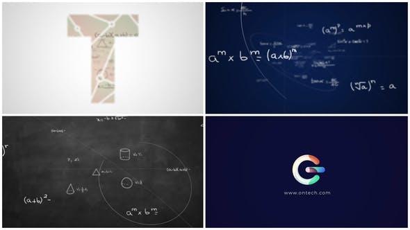 Math Formulas Logo Reveal v2