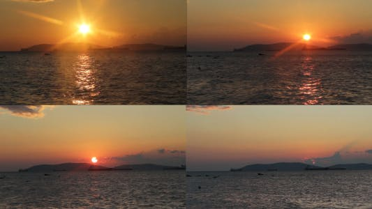 Thumbnail for Sunset Over The Sea Time Lapse