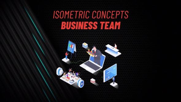 Equipo de Negocio - Concepto Isométrico