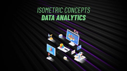 Data Analytics - Isometric Concept