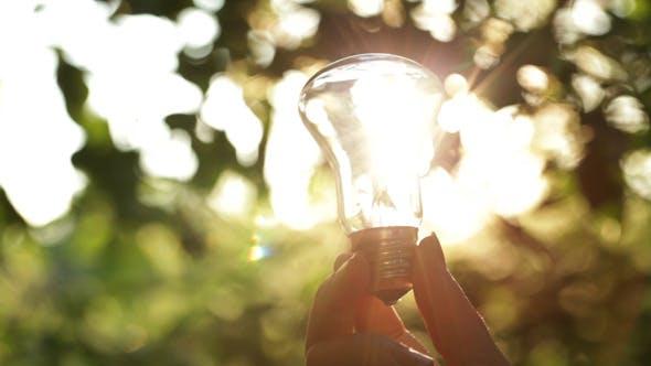 Thumbnail for Sun Rays Through A Light Bulb