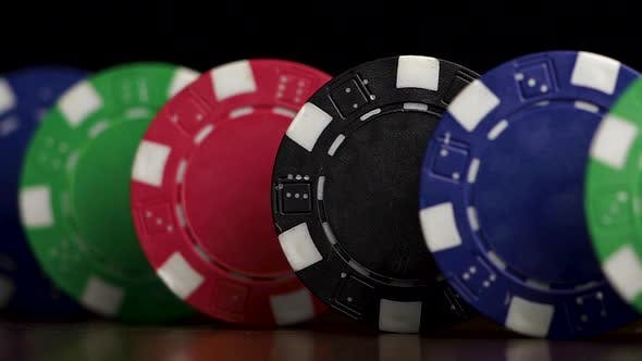 Thumbnail for Poker Chips Stand In A Row