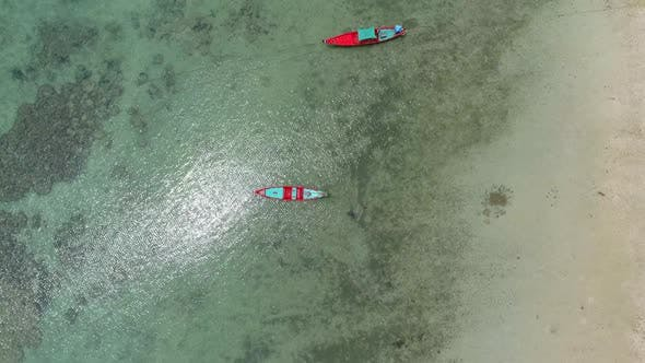 Thumbnail for Top View at  Beach with Boats