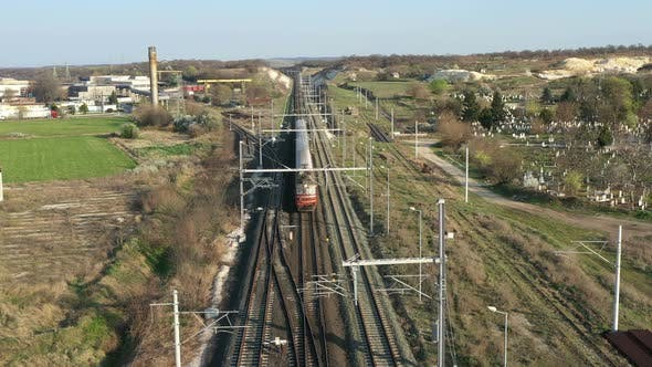 Thumbnail for View Of Train In Industrial Zone
