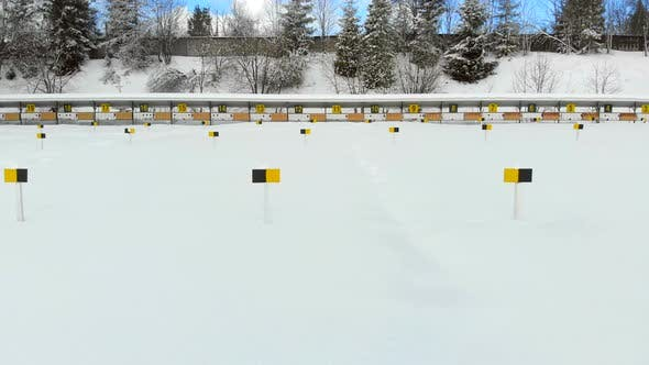 Thumbnail for Biathlon. Panorama of Targets for Shooting During the Biathlon. The Numbering of the Targets