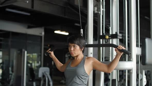 Thumbnail for Sporty Asian Woman Doing Physical Exercises
