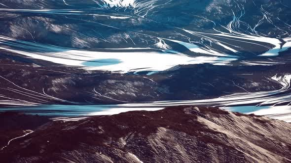 Thumbnail for Aerial View of the Mountains with Glacier