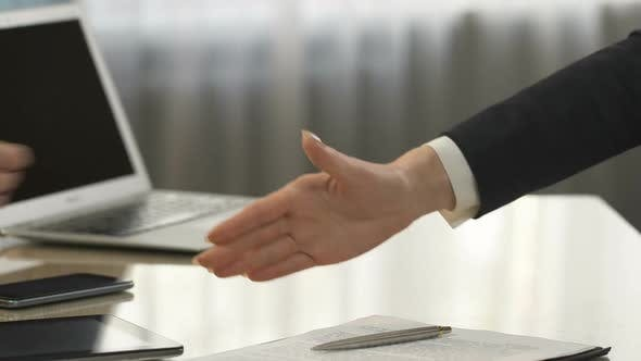 Thumbnail for Business Partners Signing Contract and Shaking Hands, Deal, Strategic Decision