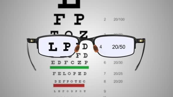 Cover Image for Spectacles with Eye Examination Chart 01
