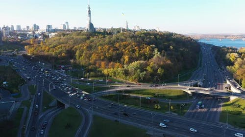 Autobahnkreuz in Kiew