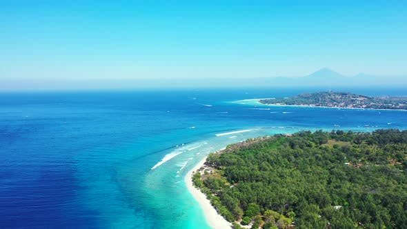 Thumbnail for Natural above abstract view of a white paradise beach and aqua turquoise water background in vibrant