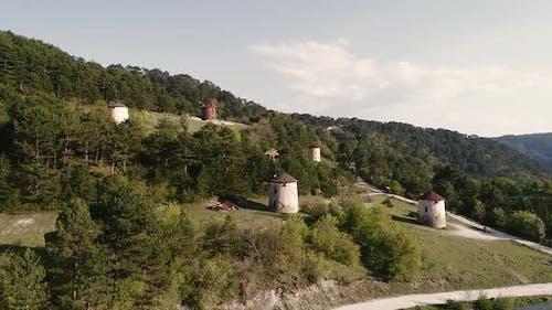 Authentische Windmühle
