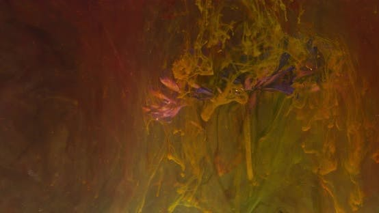 Thumbnail for Abstract Art with a Flower Underwater Coated in Colorful Ink