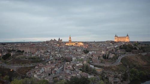 Zeitraffer von Toledo am Abend